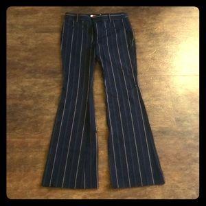 Anthropologie navy high rise trouser